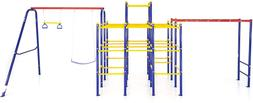 Activplay Modular Jungle Gym With Swing Set And Monkey Bars