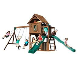 Swing-N-Slide Mont Eagle Play Set with Two Swings, Two Slide