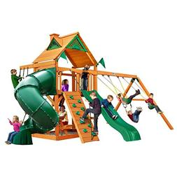 Mountaineer Cedar Play and SwingSet w/Timber Shield, Wave Sl
