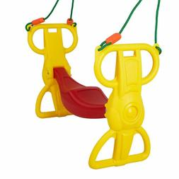 Luckyermore Multi-Child Swing Set Back to Back Rider Glider