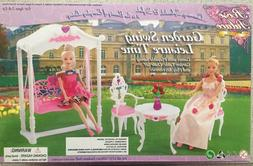 NEW ROSE PALACE BARBIE STYLE DOLL HOUSE GARDEN SWING TABLE A