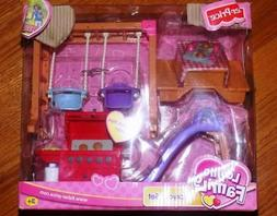 New! Fisher Price Loving Family Dollhouse Backyard Set Grill