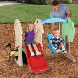 Climber and Swing Playset Outdoor Fun Toddlers Kids Play Set