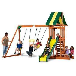 Backyard Discovery Outdoor Kids Playground Swing Set Play Sl
