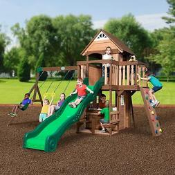 Backyard Discovery Outdoor Playground Kids Playset Swing Set
