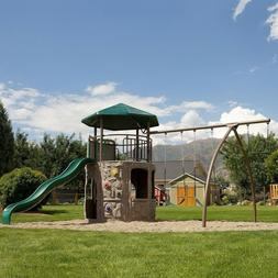 Lifetime Outdoor Playground Swingset Tower Playset Swing Sli