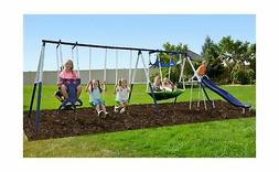 Sportspower Outdoor Rosemead Metal Swing Set with Roman Glid