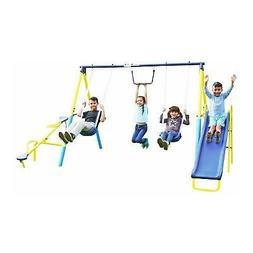 Outdoor Super First Metal Swing Set Trapeze Teeter-Totter 6f