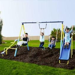 Sportspower Outdoor Super First Metal Swing Set Trapeze Teet