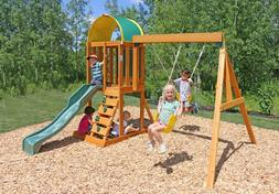 Swing Set Slide Playset Outdoor Sandbox Child Kid Climbing F