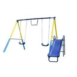 outdoor swing set playground metal play slide
