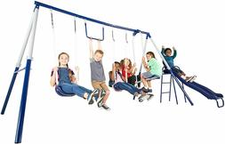 Outdoor Swingset Swing Set Playground Kids Play Playset Slid