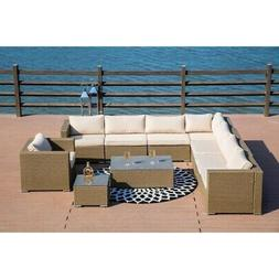 PATIO FESTIVAL ® 10-Piece Outdoor Modular Sectional Sofa Se