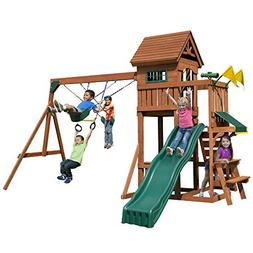 Swing-N-Slide PB 8331 Playful Palace Swing Set with Slide, S