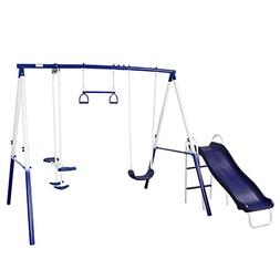 Peach Tree Play Park Swing Set w/ Slide, Swings, Air-Glider,