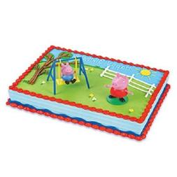 Decopac Peppa Pig Swing Set DecoSet Cake Decoration Topper