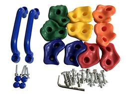 KINSPORY 10Pcs Pig Nose Shape Rock Climbing Holds with Two H