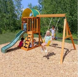 KidKraft Play Sets Ainsley Ready to Assemble Wooden Swing Se