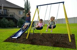 Swing Sets For Backyard Children Outdoor Metal Swingsets For