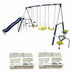 XDP Recreation Playground Play Swing Set with Slide & Ground