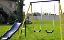 playground swing set slide outdoor backyard playset