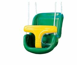 Playtime Swing Sets Molded Infant Swing with Rope - / Yellow