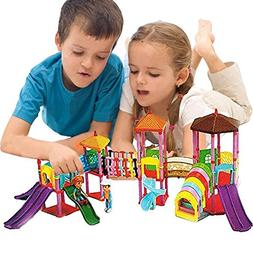 Toy Cubby Portable Miniature Amusement Park Set