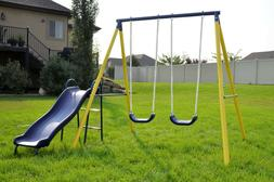 Sportspower Power Play Time Metal Swing Set Kids Toddler Pla