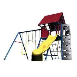 Primary Hard Top A-Frame Metal Swing Set