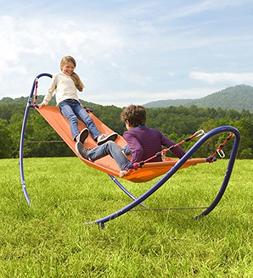 HearthSong® Rockin' 2-in-1 Rocking Hammock with Stand for K