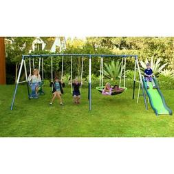 Sportspower Rosemead Swing and Slide Set, Green
