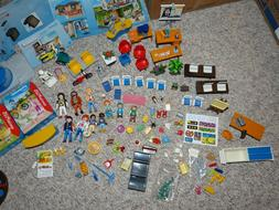 Playmobil School #9453 + 4 other small, new sets + custom sw