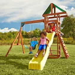Swing-N-Slide Scrambler Playset with Two Swings, Slide and R