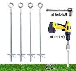 Powerful 8-Piece Earth Auger Shed Anchor Kit - 1000 LBS Pres