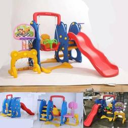Slide Swing Set for Kids In/Outdoor Family Playground Climbe