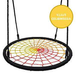 Play Platoon Spider Web Tree Swing - 40 Inch Diameter, Fully
