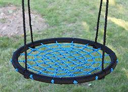Movement God Spider Web Tree Swing with Adjustable Hanging R