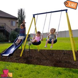 Sportspower Power Play Time Metal Swing Set with 5ft Heavy D