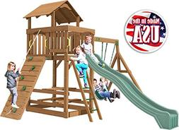 Creative Playthings  Spring Hill Swing Set Made in The USA