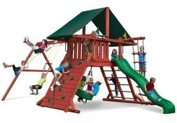 Gorilla Playsets Sun Climber I Wood Swing Set with Canvas Gr