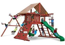 Gorilla Playsets Sun Climber I Wood Swing Set with Brannon R