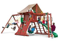Gorilla Playsets Sun Climber II Wood Swing Set with Brannon