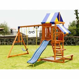 Sportspower Sunnyslope Wooden Swing Set