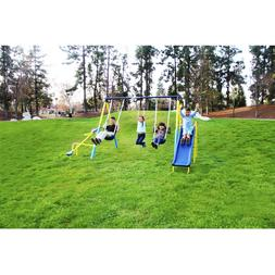 Sportspower Super First Metal Swing Set Playground Slide Tra