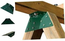 WS 4467 EZ Frame Bracket for Swing Set Swing Beam , Green