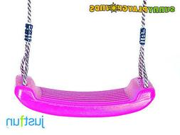 SWING SEAT PINK with FREE ROPE--Outdoor and Indoor Playgroun