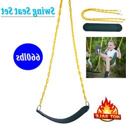 Swing Seat Set Kit Accessories For Adult Kids Playground w/2
