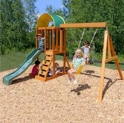 KidKraft Ainsley Cedar Wooden Swing Set Outdoor Playground S