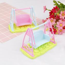 Swing Set For Doll Girl Doll Toy House Furniture Accessories