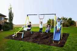 Super First Metal Swing Set Trapeze, Teeter-Totter, and 6ft